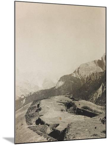 World War I: Second-Line Trenches--Mounted Photographic Print