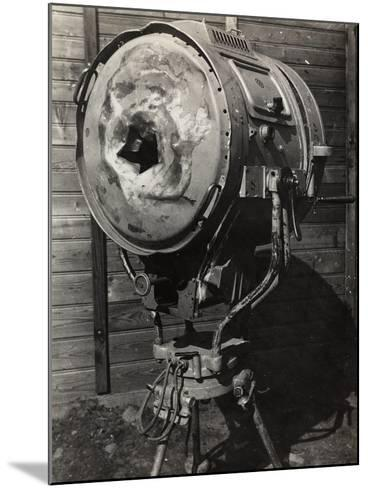 World War I: Projector Used During the War--Mounted Photographic Print