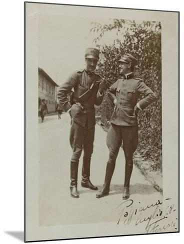 Portrait of Italian Soldiers--Mounted Photographic Print
