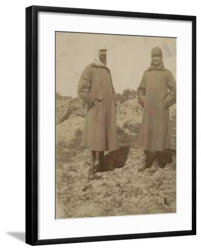Soldiers with Coat--Framed Art Print