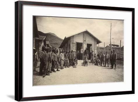 Latrine of the Third Sector with Deportees in the Fonte D'Amore Camp in Sulmona--Framed Art Print