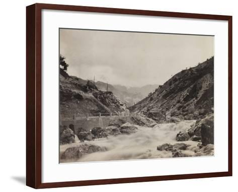 Free State of Verhovac-July 1916: the River in Val D'Aupa--Framed Art Print