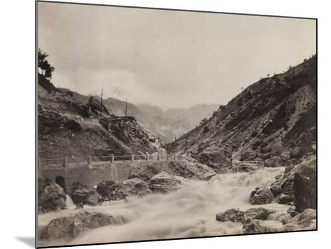 Free State of Verhovac-July 1916: the River in Val D'Aupa--Mounted Photographic Print