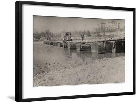 Boardwalk at Gradisca D'Isonzo--Framed Art Print