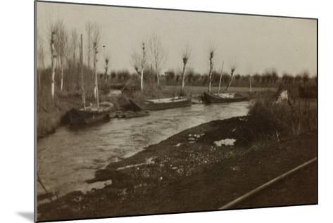 Boats on the River Corno--Mounted Photographic Print
