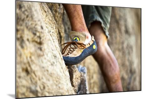 A Man's Climbing Shoe in Low Depth of Field at Granite Point in Eastern Washington-Ben Herndon-Mounted Photographic Print