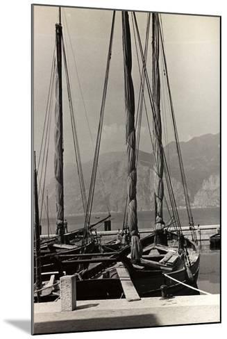 Sailboats in the Harbour of Malcesine-Otto Zenker-Mounted Photographic Print
