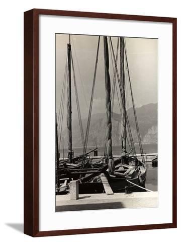Sailboats in the Harbour of Malcesine-Otto Zenker-Framed Art Print
