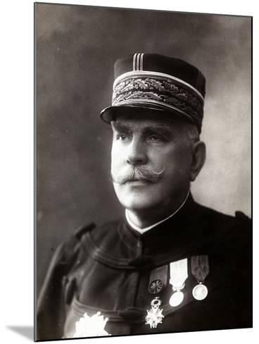 Portrait of the Gen. Joffre, Senior Officer of the French Army--Mounted Photographic Print
