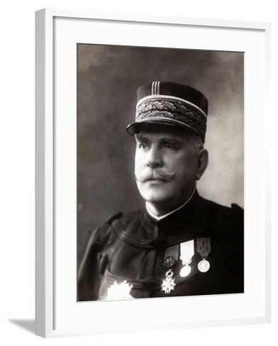 Portrait of the Gen. Joffre, Senior Officer of the French Army--Framed Art Print