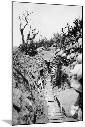 Italian Trenches on the Italian-Austrian Front in World War I-Ugo Ojetti-Mounted Photographic Print