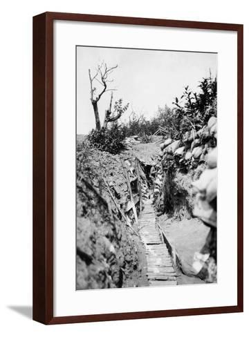 Italian Trenches on the Italian-Austrian Front in World War I-Ugo Ojetti-Framed Art Print
