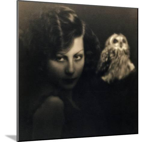 Portrait of a Woman with an Owl-Bruno Miniati-Mounted Photographic Print