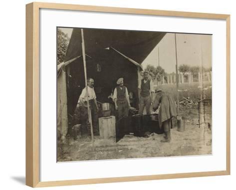 Italian Military Camp Kitchen During the First World War-Luigi Verdi-Framed Art Print