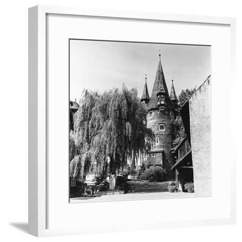 The Evocative Medieval Tower Diebsturm (Tower of Thieves) in Lindau, Baveria-Pietro Ronchetti-Framed Art Print