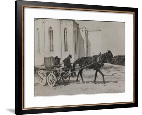 Bread Seller of Premariacco During the First World War-Luigi Verdi-Framed Art Print