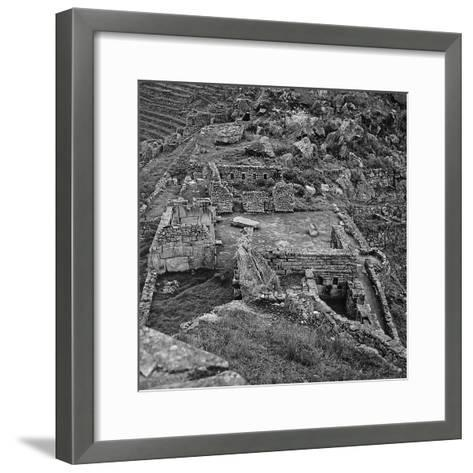 Ruins of the Lost City of the Incas Seen from Above, Machu Picchu, Peru-Pietro Ronchetti-Framed Art Print