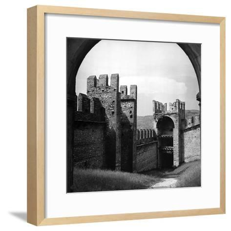 View of the City Walls of Soave-Pietro Ronchetti-Framed Art Print