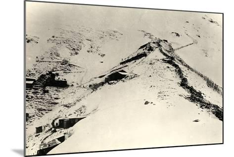 Trenches and Fences on the Slopes of Monte Nero During World War I-Ugo Ojetti-Mounted Photographic Print