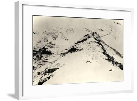 Trenches and Fences on the Slopes of Monte Nero During World War I-Ugo Ojetti-Framed Art Print