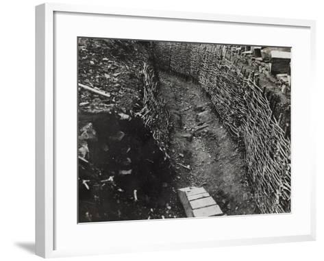 Trench Construction During the First World War-Luigi Verdi-Framed Art Print