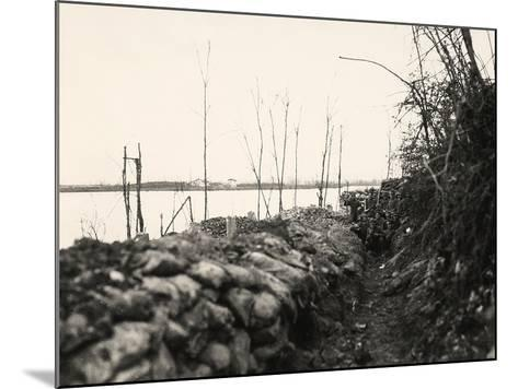 Peteano at the Isonzo River During World War I-Ugo Ojetti-Mounted Photographic Print
