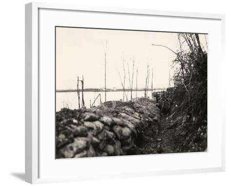 Peteano at the Isonzo River During World War I-Ugo Ojetti-Framed Art Print