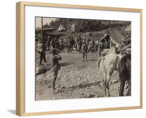 Soldiers of the Section of Subsistence During the First World War-Luigi Verdi-Framed Art Print