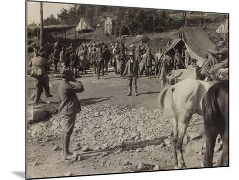 Soldiers of the Section of Subsistence During the First World War-Luigi Verdi-Mounted Photographic Print