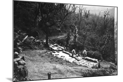 Italian Soldiers of World War I Construct Armored Shelters on the Outskirts of Podgora-Ugo Ojetti-Mounted Photographic Print