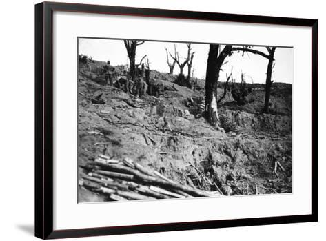 The Construction of Refuges Near the Summit of Calvario Di Podgora-Ugo Ojetti-Framed Art Print