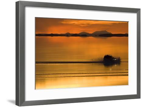 The Salar De Uyuni, a Flooded Salt Flat, in Bolivia-Sergio Ballivian-Framed Art Print