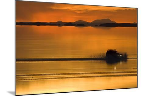 The Salar De Uyuni, a Flooded Salt Flat, in Bolivia-Sergio Ballivian-Mounted Photographic Print