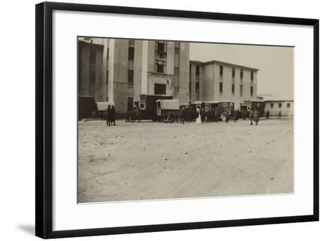 Pictures of War II: Italian Soldiers and Red Cross Ambulances in Gradisca Sagrado- Gigliucci-Framed Art Print