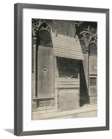 Protection of One of the External Niches of Orsanmichele During the First World War, Florence-Giuseppe Giani-Framed Art Print