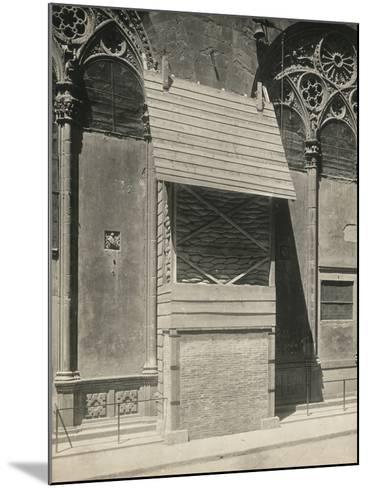 Protection of One of the External Niches of Orsanmichele During the First World War, Florence-Giuseppe Giani-Mounted Photographic Print