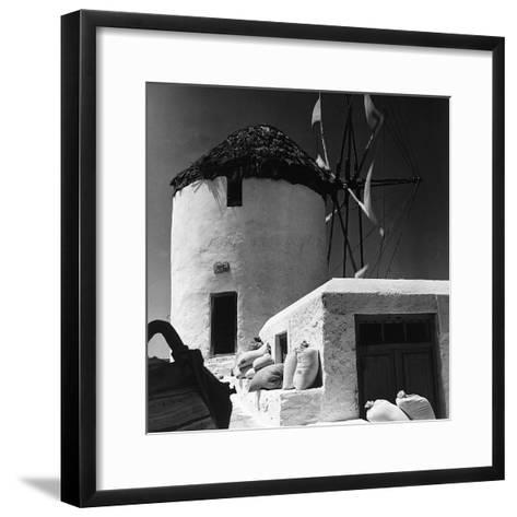 A Windmill in Greece-Pietro Ronchetti-Framed Art Print
