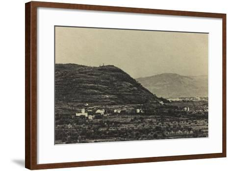 Visions of War 1915-1918: View of Mount Podgora During the First World War-Vincenzo Aragozzini-Framed Art Print