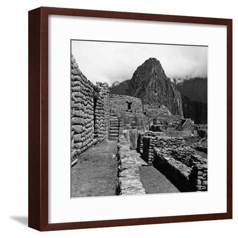 Ruins of the Houses of the Lost City of the Incas, and the Sun Temple, Machu Picchu, Peru-Pietro Ronchetti-Framed Art Print