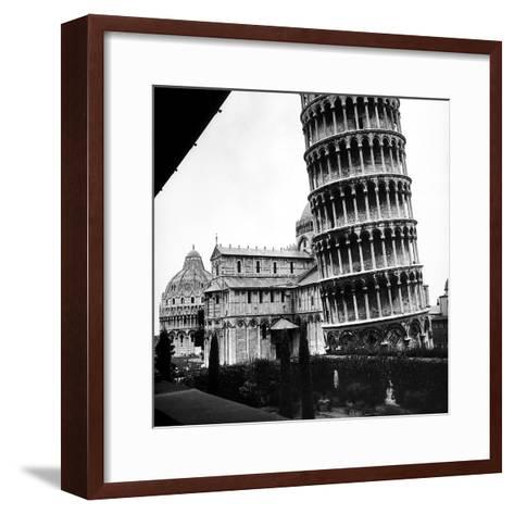 The Tower, One Arm of the Transept of the Cathedral and the Baptistry of Pisa-Pietro Ronchetti-Framed Art Print