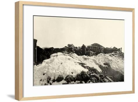 Trenches on Pal Grande During World War I-Ugo Ojetti-Framed Art Print