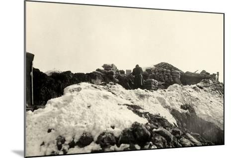 Trenches on Pal Grande During World War I-Ugo Ojetti-Mounted Photographic Print