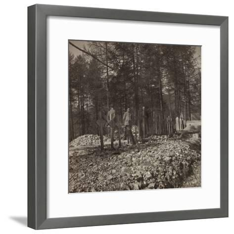 Pictures of War II: Italian Soldiers in the Cemetery of the Belvedere Pocol--Framed Art Print