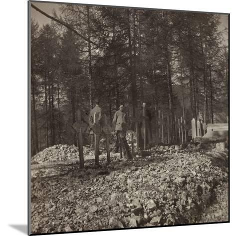 Pictures of War II: Italian Soldiers in the Cemetery of the Belvedere Pocol--Mounted Photographic Print