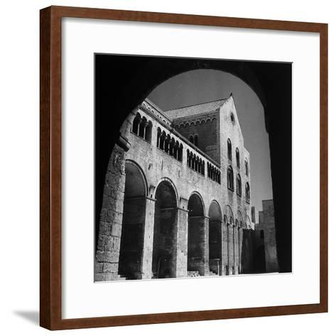 The South Side of the Basilica of San Nicola in Bari-Pietro Ronchetti-Framed Art Print