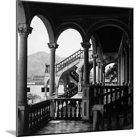The Interior Portico of a House in Lima, Peru-Pietro Ronchetti-Mounted Photographic Print