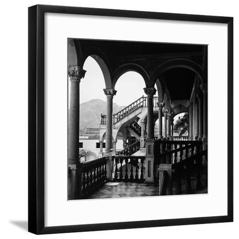 The Interior Portico of a House in Lima, Peru-Pietro Ronchetti-Framed Art Print