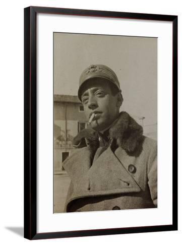 War Campaign 1917-1920: Portrait of a Soldier--Framed Art Print