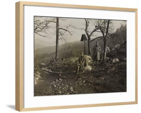 Soldiers on the Trail of Liga During the First World War-Luigi Verdi-Framed Art Print