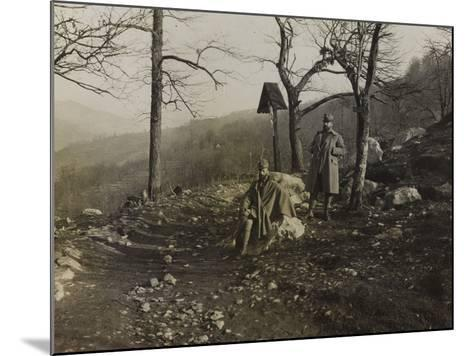 Soldiers on the Trail of Liga During the First World War-Luigi Verdi-Mounted Photographic Print